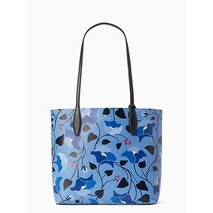 Kate Spade Large Tote - Nouveau Bloom Blue NWT